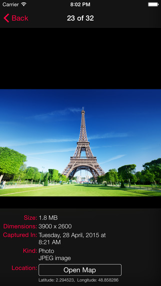 PhotoInfo Size - Dimensions - Video Duration - Capturing Date and Location