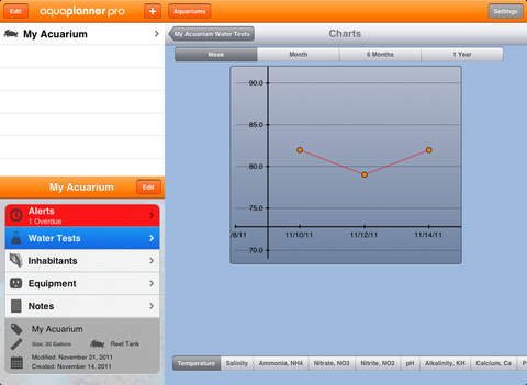 aquaPlanner iPad Screenshot 1