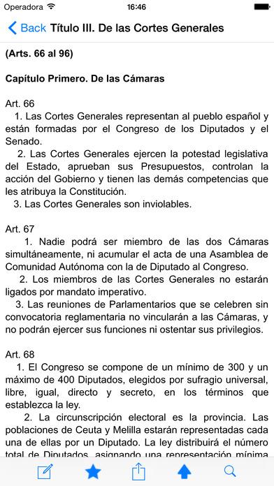 Constitución Española de 1978 iPhone Screenshot 2