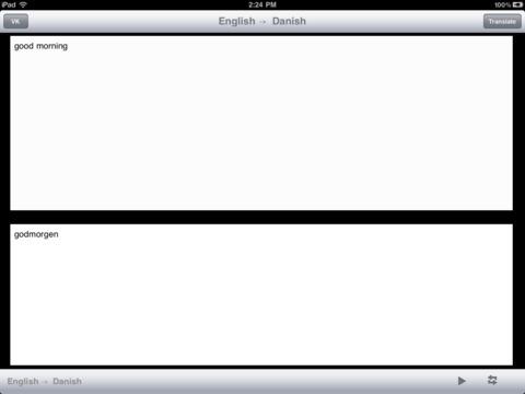 English Danish Translator iPad Screenshot 1