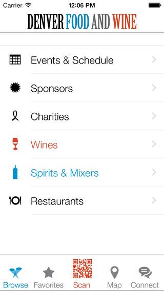 Denver Food and Wine Companion App