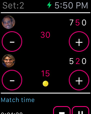 Tennis Scores Screenshots