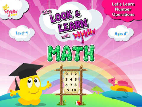 Look Learn with PopKorn : Number Operations