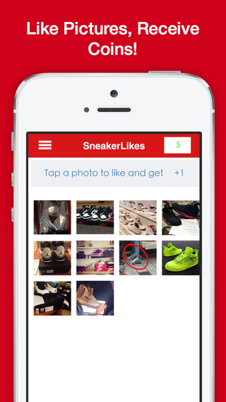 Sneaker Likes - Get 1000's of likes on your sneaker photos