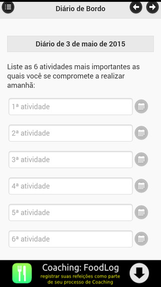 Coaching: Diário de Bordo