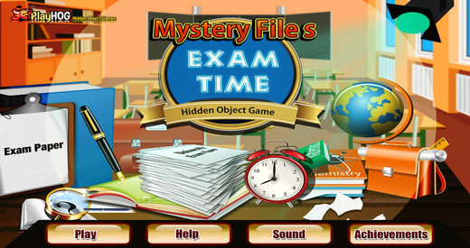 Mystery Files - Exam Time - Free Hidden Object Games