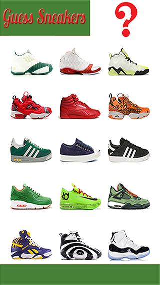 ``Crush Sneaker Kicks Quiz`` A Fashion Trivia for Sneakerheads - Guess Top Brand Sneakers Boots Shoe