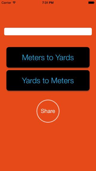 Yards Vs Meters