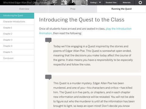 Poe Quest Teacher