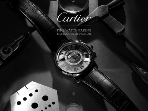 Cartier Fine Watchmaking iPad Screenshot 1