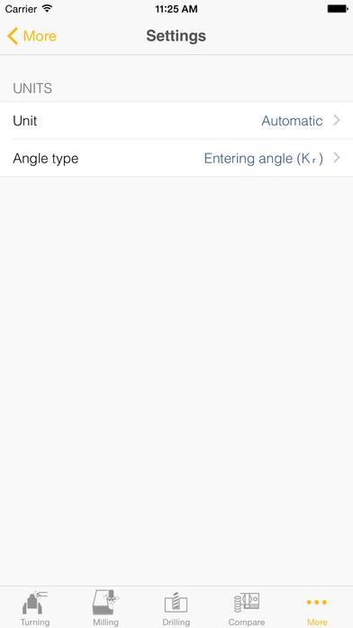 Sandvik Coromant Machining Calculator iPhone Screenshot 4