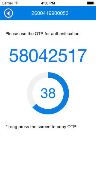 OTP Mobile Token