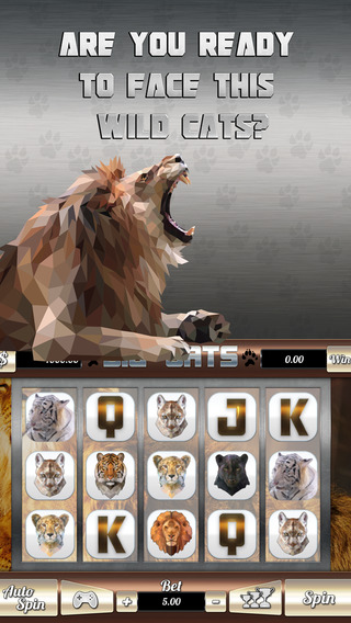 ````` 2015 ````` Big Cats Slots - Spin Win Coins with the Classic Las Vegas Machine