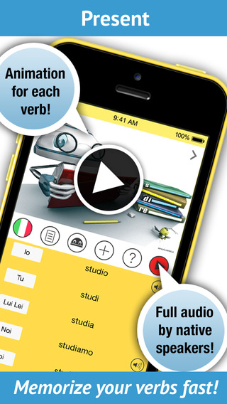 Learn Italian Verbs - Pronunciation by a native speaker
