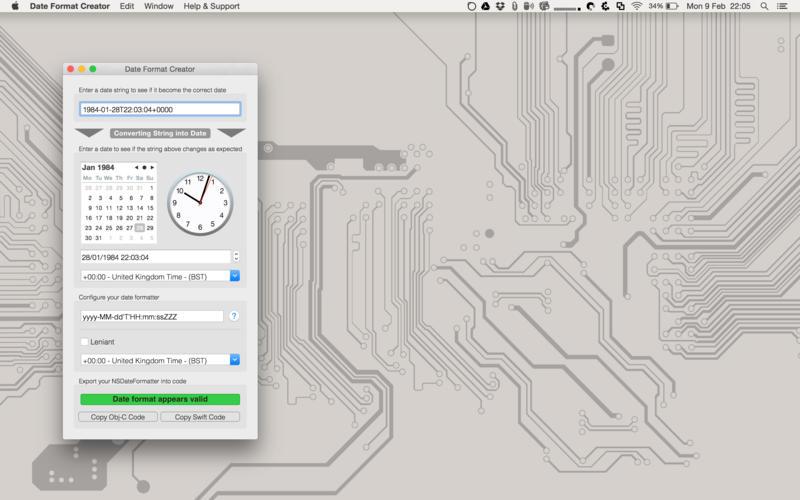 Date Format Creator Screenshot - 1