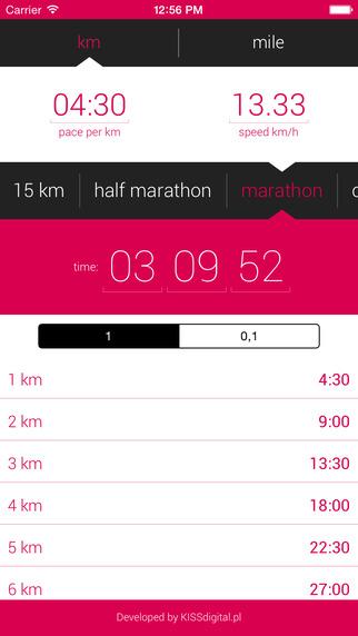 Runne - calculator for runners
