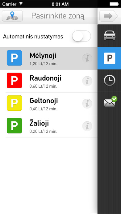 Screenshots of m.Parking for iPhone