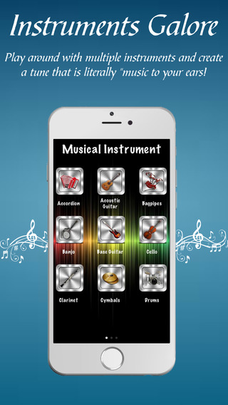 Instruments Galore - World of musical instruments with a touch of your fingertip