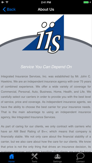 Integrated Insurance Services