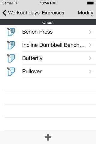 Screenshot 2 Carnet de Musculation