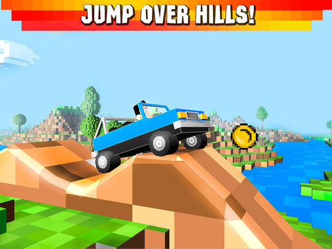 Cube Jeep: Hill Race 3D Full Screenshots