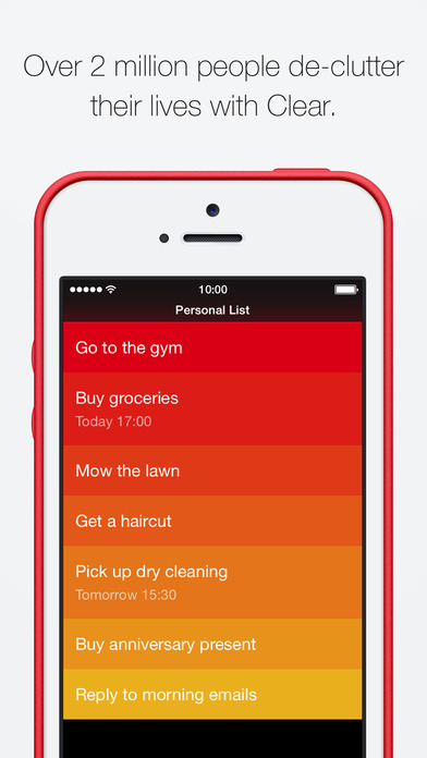 Clear – Tasks, Reminders & To-Do Lists Screenshot