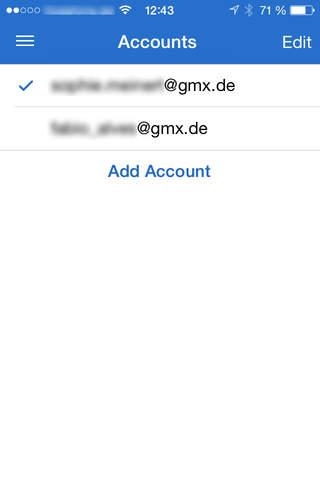iphone GMX Mail Screenshot 3