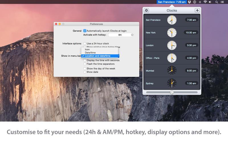 Clocks for Mac