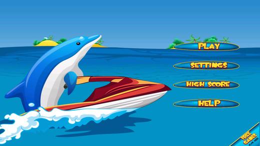 Dolphin Jet Skier Run - Fun Wave Surfer Rider Free