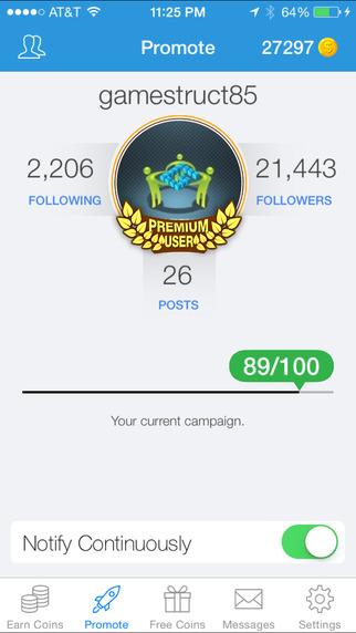 JustFollow Pro - Get Instagram Followers Screenshots