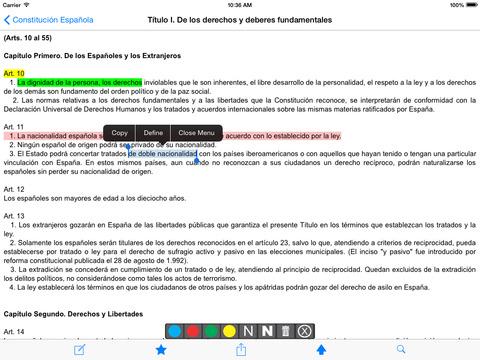 Constitución Española de 1978 iPad Screenshot 2