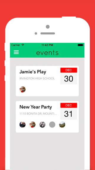 Events Social Organiser