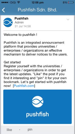 Pushfish