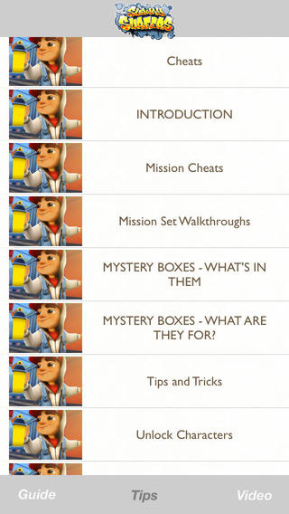 Cheats Tips Video Guide for Subway Surfers Game