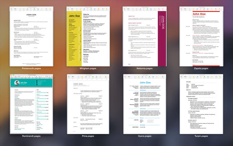 Resumes for Pages Screenshot