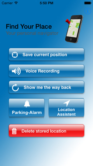 Find Your Place - Navigate back to your car hotel or meeting point. Everytime everywhere