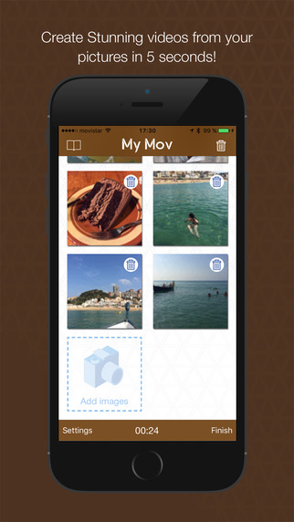 MyMov for Instagram Edition Video Editor - Convert your photos in videos slideshow