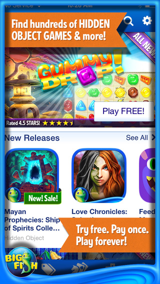 Big Fish Games App - The BEST FREE Game Finder for Deals on Hidden Object Mystery Match 3 More