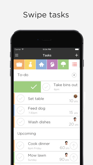 OurHome – chores rewards groceries and messages