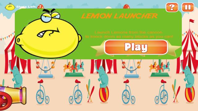Lemon Launcher Game