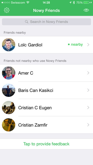Nowy Friends - know when your friends are nearby