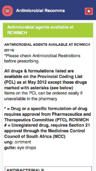 Antimicrobial Recommendations