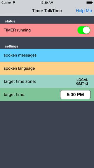 Talking TimeZone Timer TalkTime