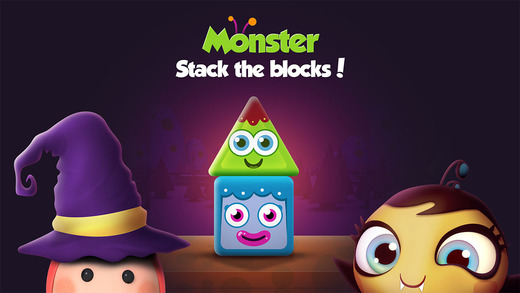 Monster Tower Stacking - A Halloween Kids Activity