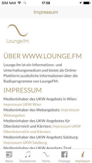 LoungeFM Radio iPhone Screenshot 5