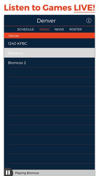 Denver Football Radio Live Scores