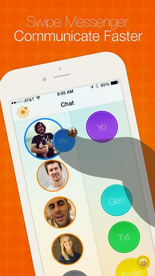 Swipe Messenger with Rewards