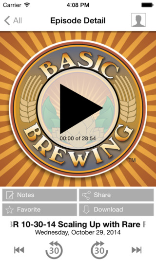 Basic Brewing Podcasts iPhone Screenshot 3