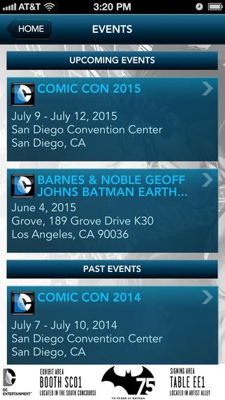 DC Entertainment Events screenshot