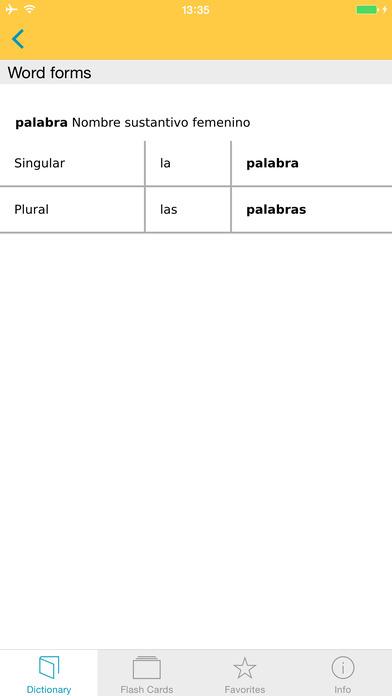 Spanish <-> German Talking Dictionary Langenscheidt Professional iPhone Screenshot 5